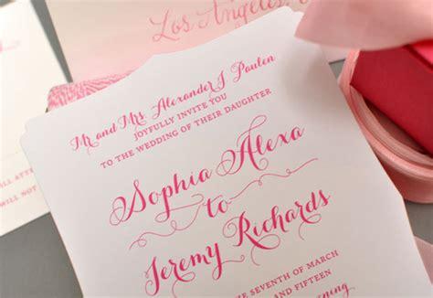 die cut wedding invitations by smitten on paper invitation crush