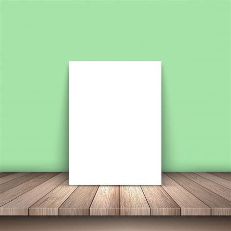 papier tafel wit papier op een houten tafel vector gratis