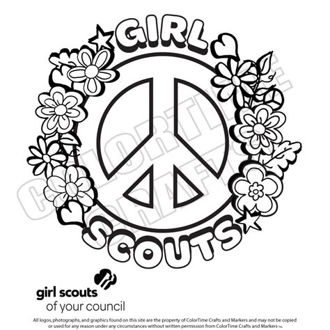 coloring pages for girl scouts daisy girl scout printables bing images girl scouts