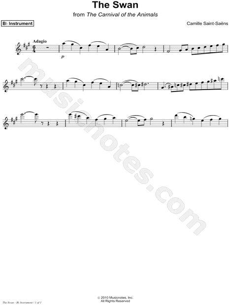 "Camille Saint-Saëns ""The Swan (Le Cygne) - Bb Instrument"