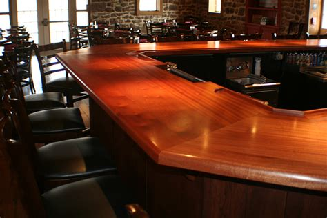 commercial bar tops of wood for a restaurant cafe or pub