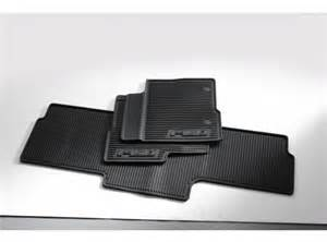 floor mats all weather thermoplastic rubber black 3 pc