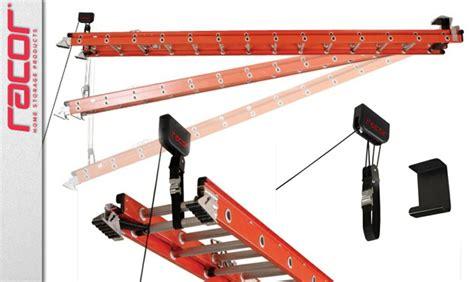 ceiling storage racor ladder lift toolmonger