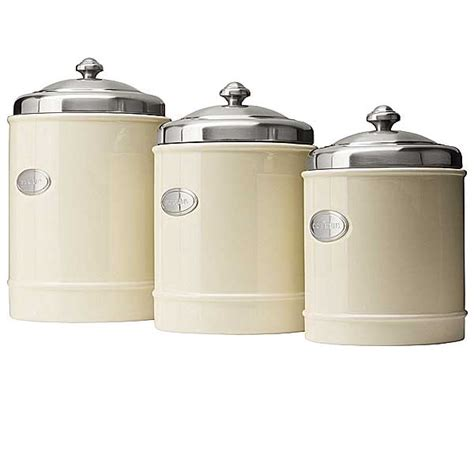 stainless steel kitchen canisters capriware kitchen canisters ceramic stainless steel save 35