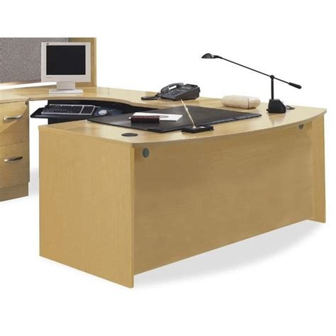 Bush Bennington L Shaped Desk Bush Business Series C L Shaped Bowfront Desk In Light Oak Bsc030 603