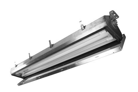 Uvc Light Fixtures 2ft Stainless Steel Ultraviolet Fluorescent Fixture Hazardous Location Lighting Glass Lens