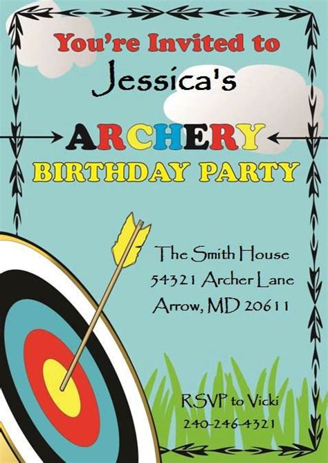 printable birthday invitations target 11 best images about archery party on pinterest birthday