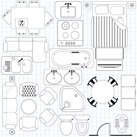 clipart furniture floor plan clip art floor plan symbols clipground