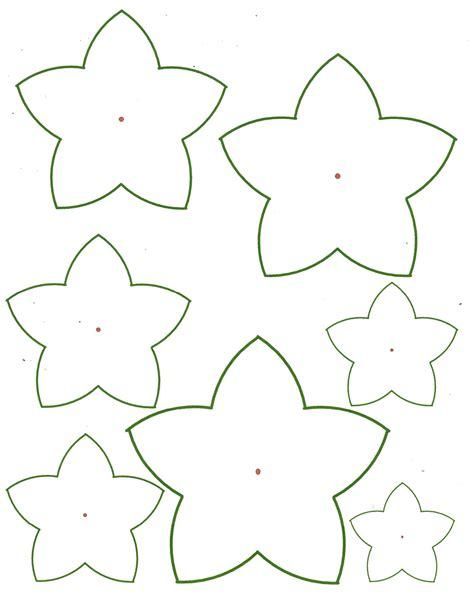 5 best images of 3d petals flowers templates printables