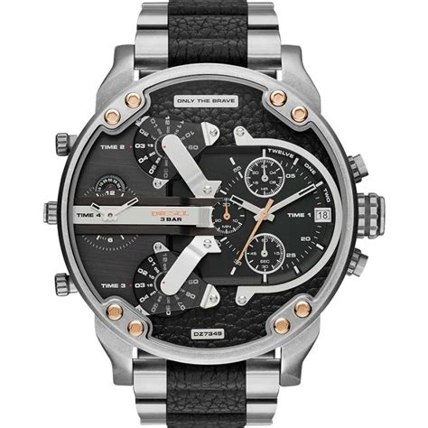Diesel Ds011 Silver Black dz7349 mr diesel mens watches2u