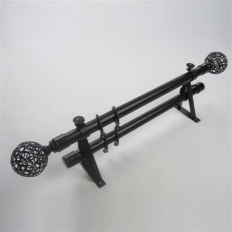 what are finials for curtain rods 19 inch black ball finial aluminum alloy material double