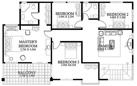 House Floor Plan Design Modern House Design 2012002 Pinoy Eplans