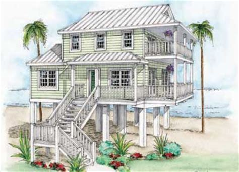 beach house on stilts plans