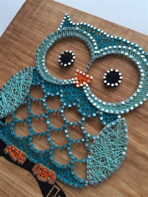 string art pattern owl owl string art custom made to order string art art