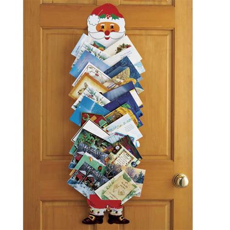Ideas To Decorate Your Home door hanging christmas card holder christmas lights card