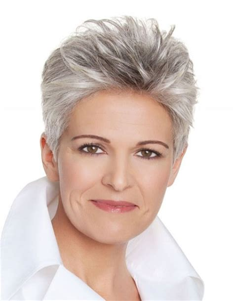 hairstyles for thin gray hair photos of short haircuts for older women short haircuts