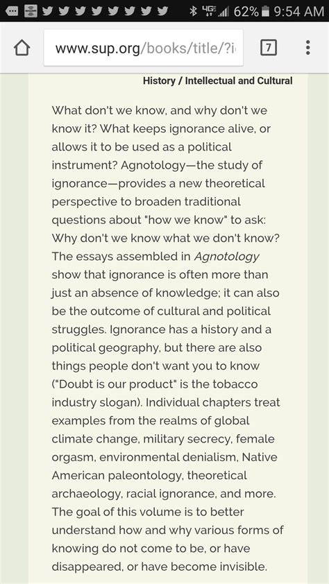 Ignorance Essay by Essays On Ignorance