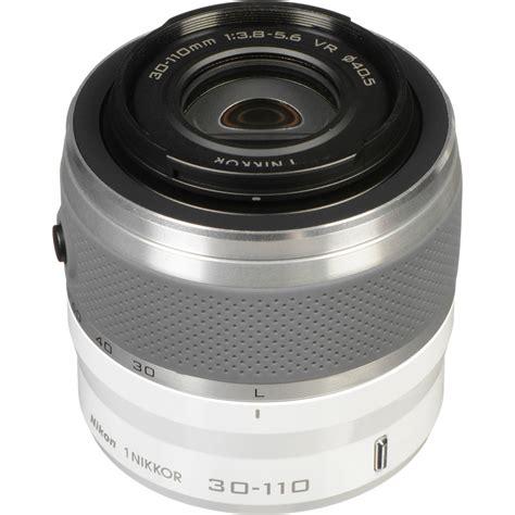 nikon 1 nikkor vr 30 110mm f 3 8 5 6 lens white 3319 b h
