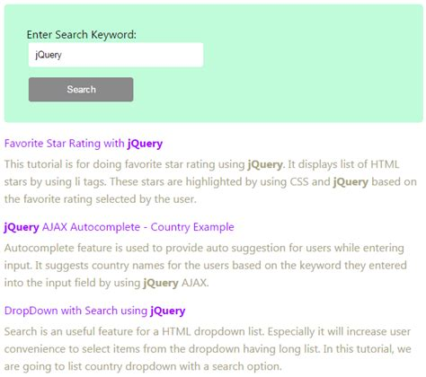 Search Php Highlighting Keywords In Search Results With Php