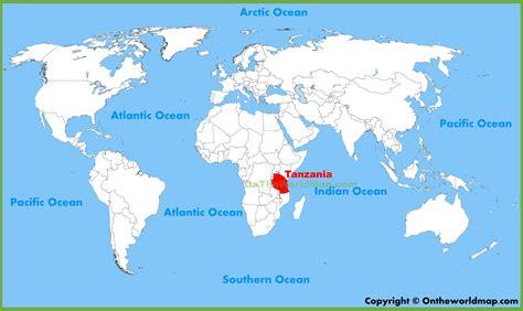 tanzania on the map tanzania location on the world map
