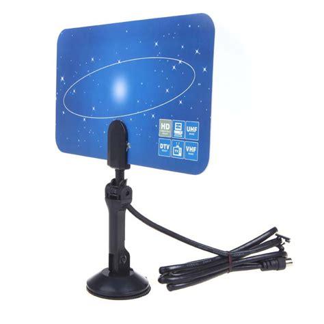 Antena Tv Uhf Digital eu digital indoor tv antenna hdtv dtv hd vhf uhf flat design high gain tv antanna in tv