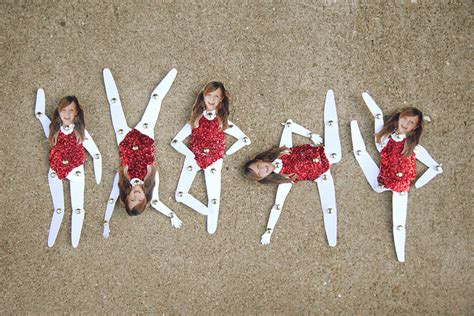 Paper Doll Crafts - paper doll gymnast family crafts