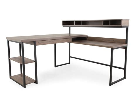 Desk Work L by 61 Quot Casual L Shaped Desk In Salt Oak Mathis Brothers