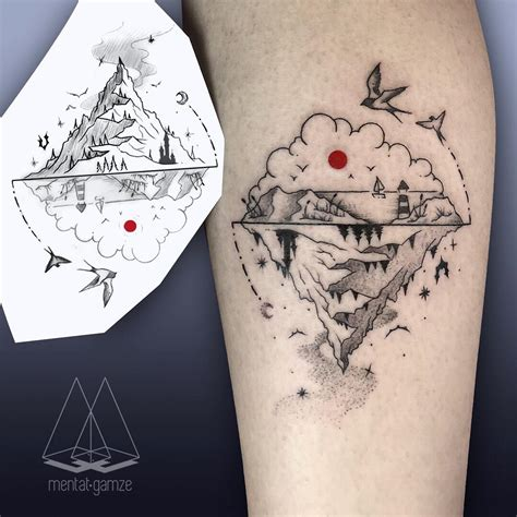 minimalist mountain tattoo dot as a sign of in mentat gamze s tattoos