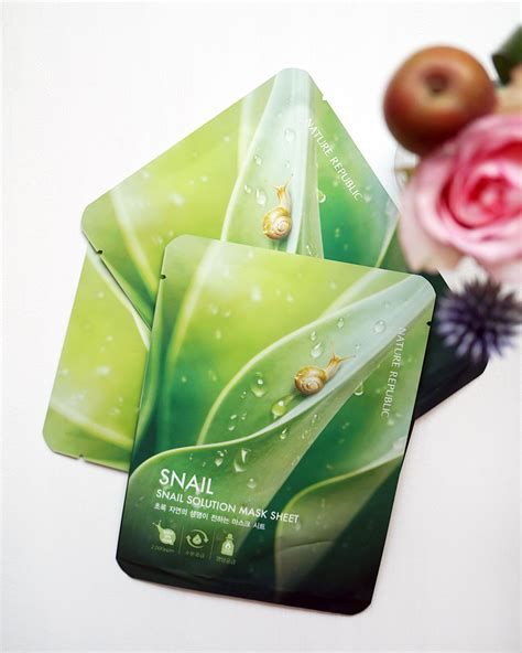Snail Solution Mask Sheet review nature republic snail solution mask sheet l o v