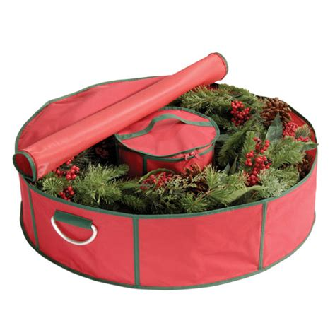 red holiday wreath bag 42 in holiday wreath storage