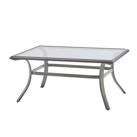 Metal Patio Coffee Table Hton Bay Statesville Rectangle Steel Outdoor Coffee Table Ftm70552 The Home Depot