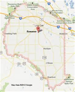 suwannee county florida map