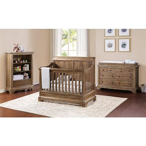 toys r us baby bedroom furniture bertini pembrooke 4 in 1 convertible crib natural rustic