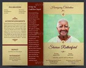 memorial handout template sle funeral program template 30 free