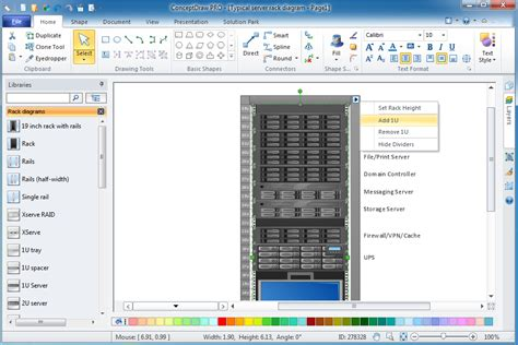 server rack diagram software rack diagrams solution for microsoft windows