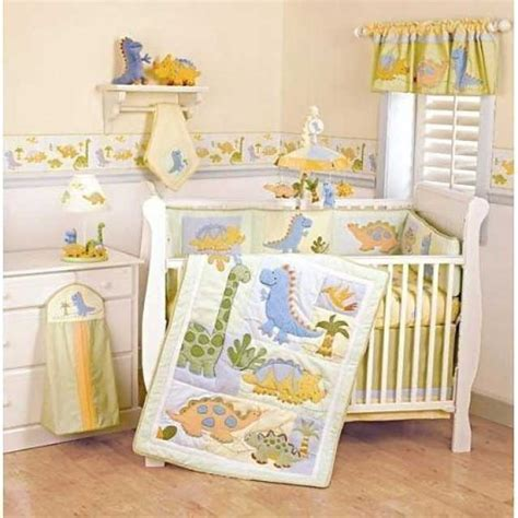 Baby Dinosaur Crib Bedding Okay Actually This Dinosaur Bedding Set Is Kinda And Neutral Baby Bedding Sets