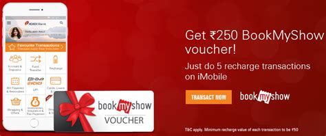 bookmyshow offers october 2017 get rs 250 bookmyshow gift vouchers by doing recharge on