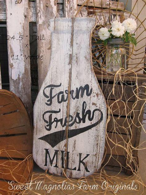milk bottle wood sign farmhouse style quot farm fresh milk