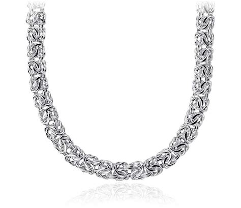 Necklace Silver byzantine necklace in sterling silver blue nile