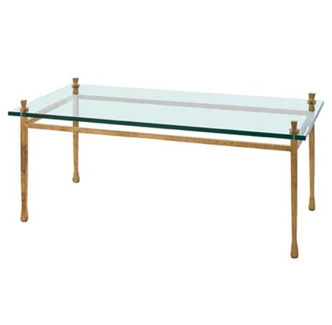 Glass And Gold Coffee Table Handler Global Bazaar Floating Glass Gold Leaf Coffee Table