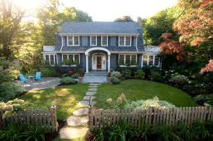 Picket fence designs landscape traditional with dutch colonial balcony