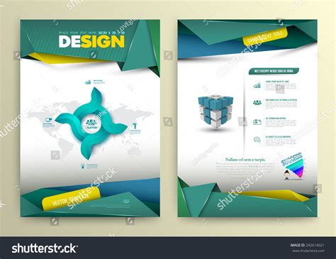 create page template vector design page template modern style stock vector