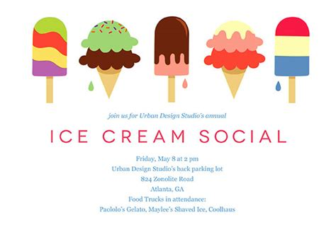 ice cream party flyer template office party invitations