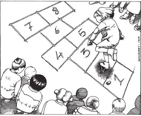 dibujos de niños jugando juegos tradicionales dibujo para colorear de juegos tradicionales imagui