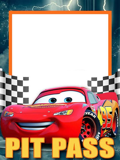 cars invitation cards templates invitation template lightning mcqueen choice image