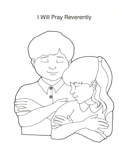 lds coloring pages praying best photos of my prayer hand coloring page five finger