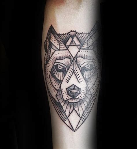 forearm tattoo design inspiration 90 geometric wolf tattoo designs for men manly ink ideas