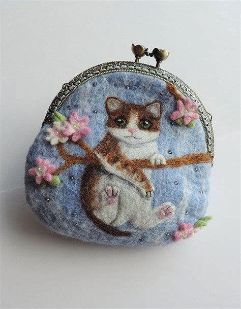 Handmade Felted Purses - 440 best images about cat objects on