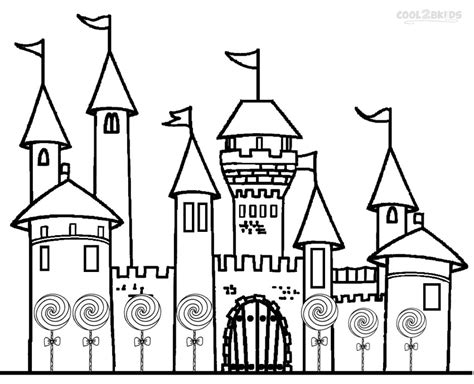 coloring page castle printable candyland coloring pages for cool2bkids