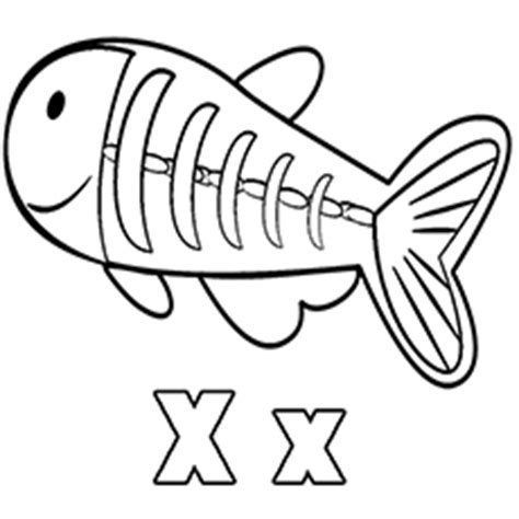 Top 10 Free Printable Letter X Coloring Pages Online X Fish Coloring Page